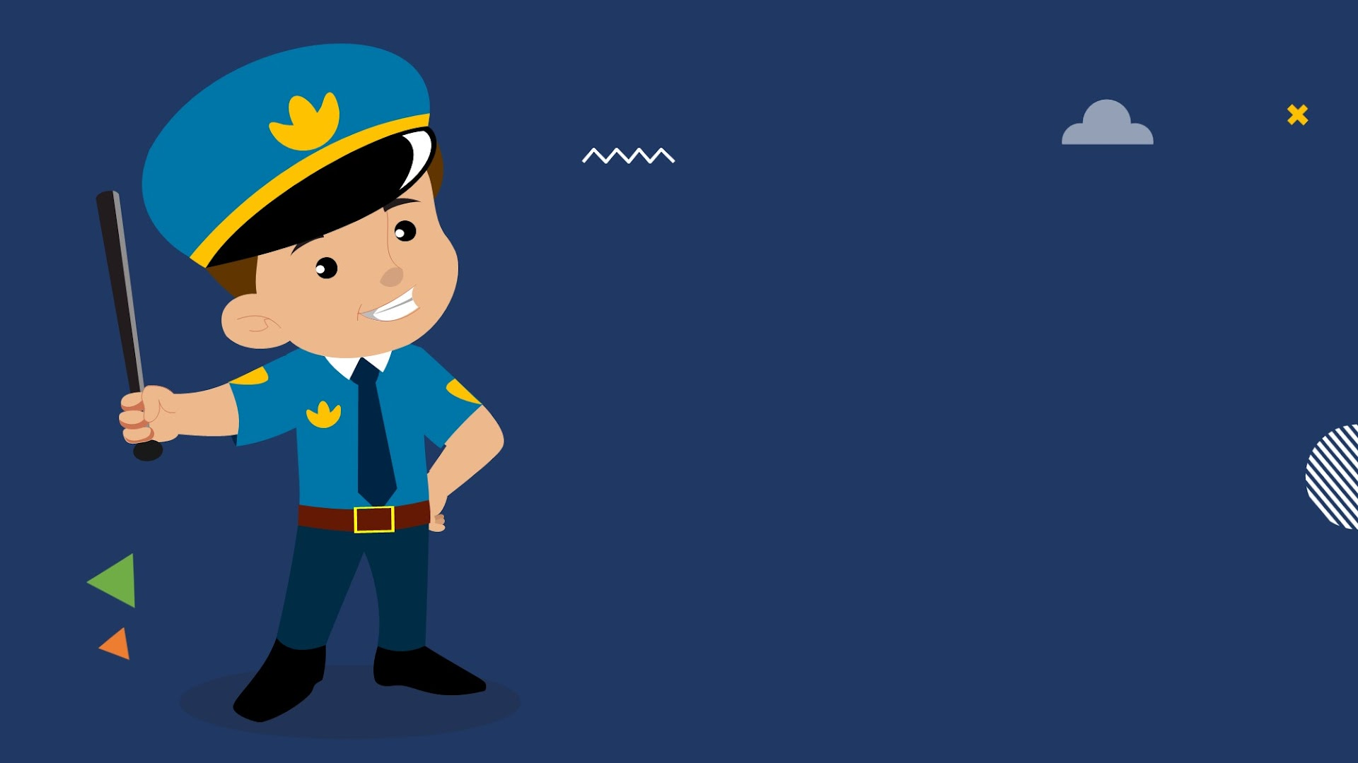 Cute Kid as Policeman - Free HD Background