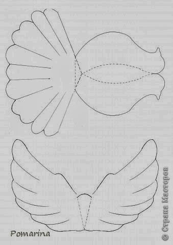 DIY Paper Dove With Printable Template