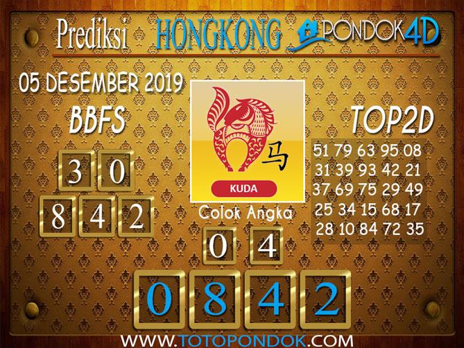 Prediksi Togel HONGKONG PONDOK4D 05 DESEMBER 2019