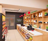 Дизайн проект магазина супермаркета Брусника вкусника Екатеринбург Dulisov design студия интерьер