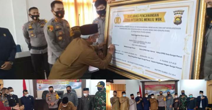Pencanangan Zona Integritas WBK dan WBBM Polres Kerinci Dihadiri Wabup Ami Taher