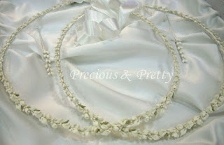 Greek wedding crowns stefana with white roses N63