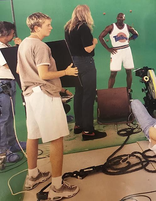 Fotografías de Michael Jordan en el rodaje de Space Jam