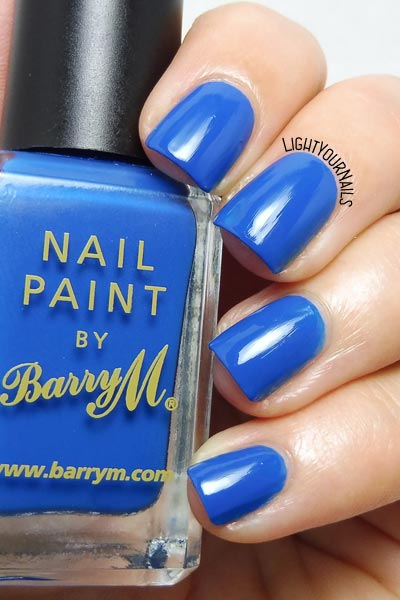 Smalto Barry M Cobalt Blue nail polish #barrym #nails #unghie #lightyournails #blue