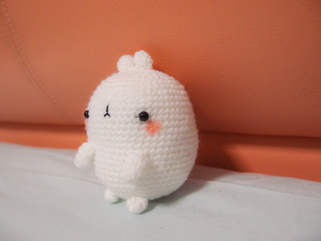 Crocheted Molang amgurumi