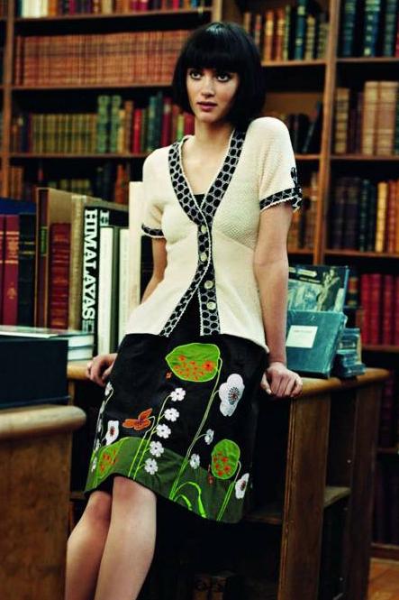 Anthropologie Beanstalk Skirt by Lithe