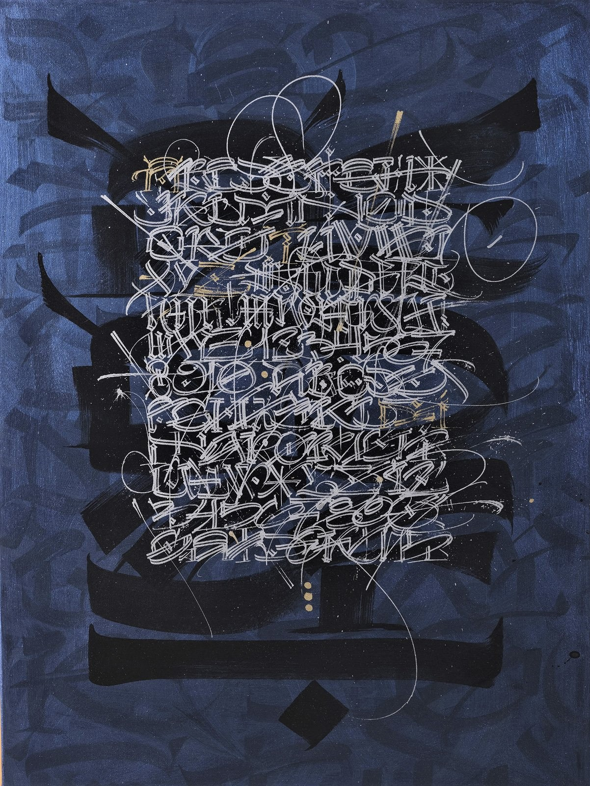 PAINTING SOLD IN AUCTION Crait + Müller Drouot Calligraffiti and Calligraphy by Said Dokins