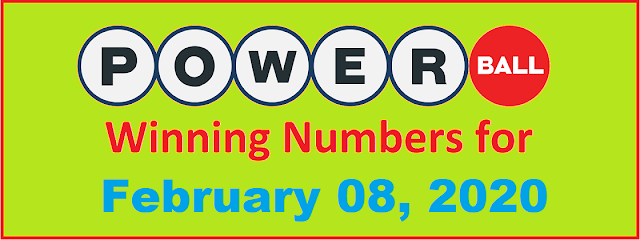 PowerBall Winning Numbers for Saturday, February 08, 2020