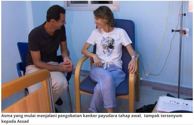Istri Bashar Al Assad Mengidap Kanker Payudara