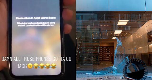 Stolen iPhones during Riot