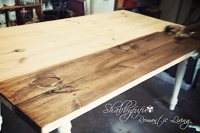 stain a table diy