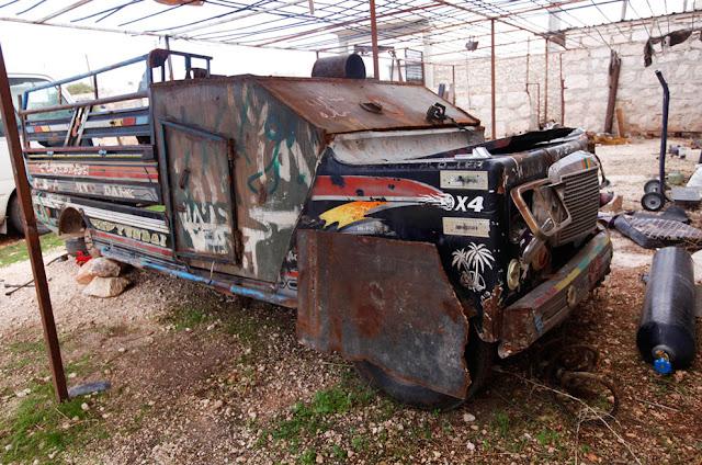 Vehículo blindado casero Siria