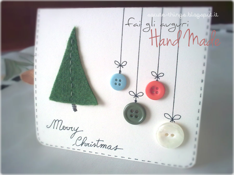 Christmas: cards handmade!