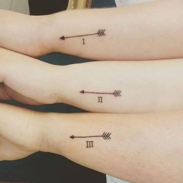 50 meaningful sibling tattoos for brothers and sisters for Tattoos for sisters of 3