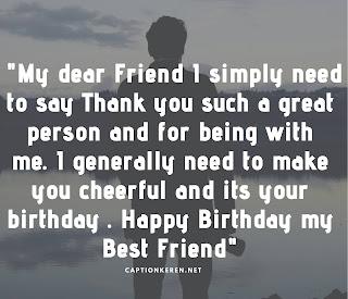 ucapan ulang tahun untuk sahabat bahasa inggris