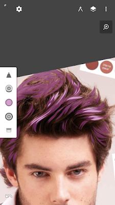 Warna rambut paling terang atau no 4 para pallet