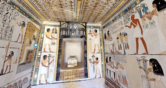 Egipto: visita online gratis tumbas, pirámides egipcios tumba de Menna