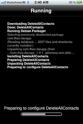 cydia app installation screen