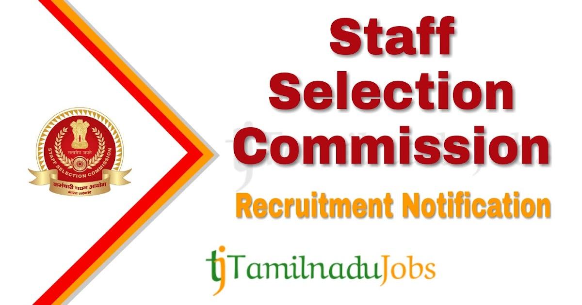 Ssc Recruitment Notification Of 2019 For Junior Engineer