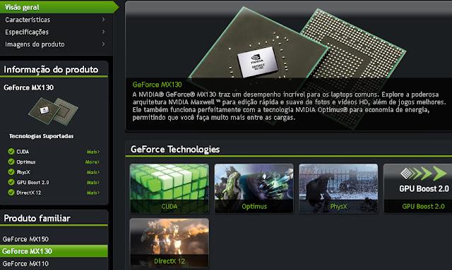 placa de video nvidia geforce mx130 e boa ? quais jogos roda