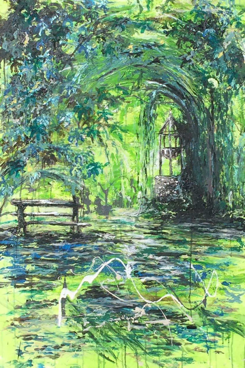 Karine Babel a peint le parc de Monsec près de Mareuil-en-Périgord