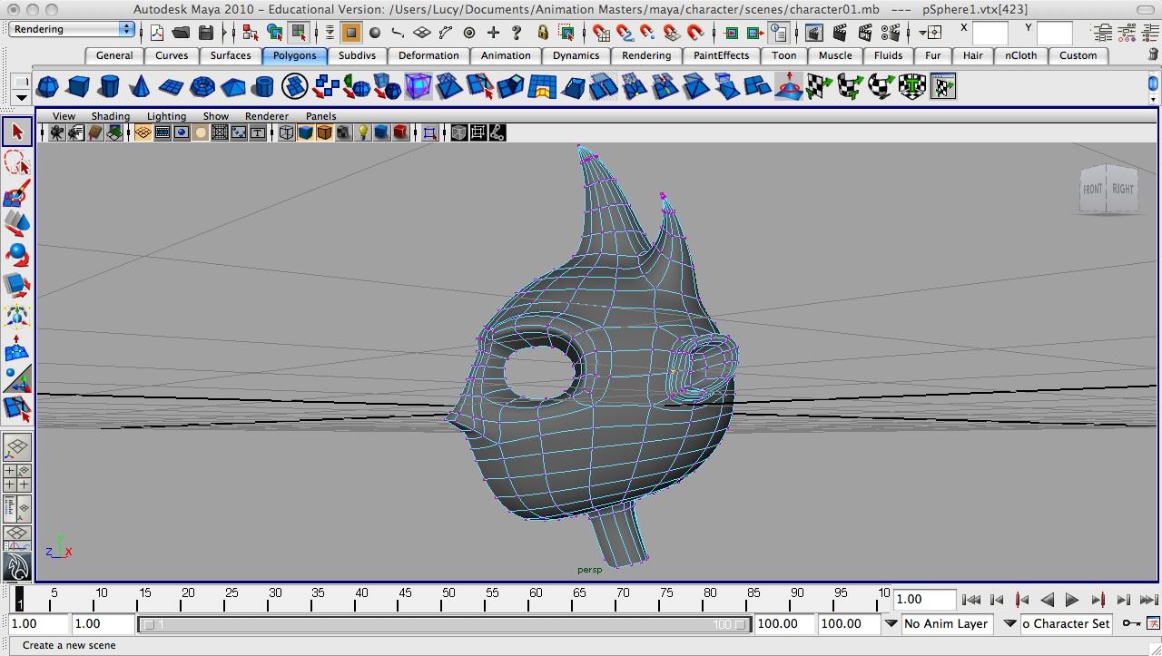 Exploring Animation: Maya Modeling: Stylised Head