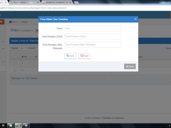 Sistem Informasi Tembakau Berbasis Web PHP - MySQL