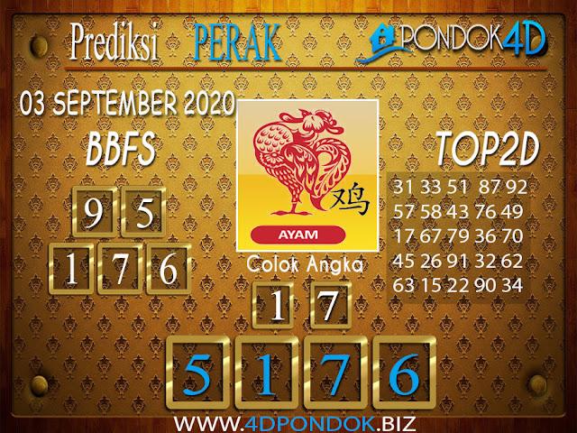 Prediksi Togel PERAK PONDOK4D 03 SEPTEMBER 2020