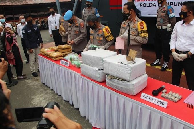 Rilis Akhir Tahun 2020 Polda Lampung, Kasus Narkoba Masih Tinggi
