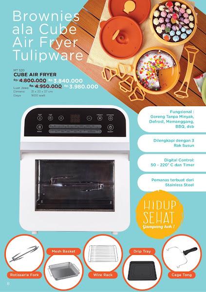 Promo Diskon Tulipware Oktober 2019, Cube Air Fryer