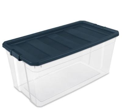 large clear storage bin