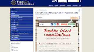 Franklin School Committee News - October 2019