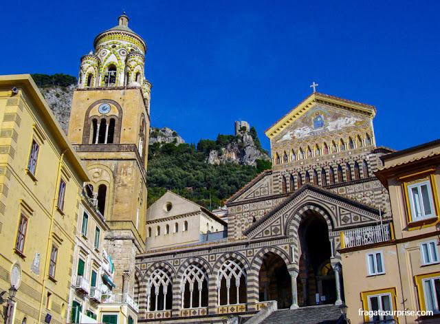 Duomo di Sant'Andrea, a Catedral de Amalfi, Costa Amalfitana, Itália