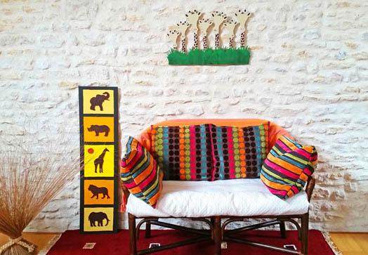 Décoration, batiks, tapis, statut, savane, mobilier, culture, tradition, style, tendance, beauté, design, motif, couleur, vitre, tissu, maison, bureau, LEUKSENEGAL, Dakar, Sénégal, Afrique