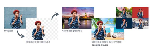 ازالة خلفية اي صورة بدون برامج وتركيب اي صورة اخري