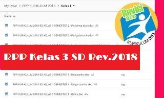RPP Kelas 3 Kurikulum 2013 Revisi 2018 Semester 1 Tema Perkembangan Teknologi