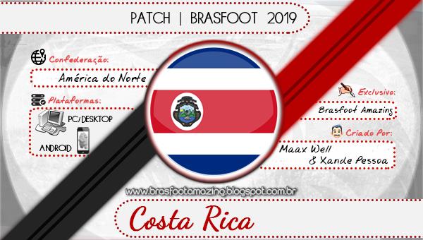 BRASFOOT 2012 PATCH COSTA BAIXAR RICA