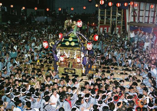 Shimodate Gion Matsuri (summer festival), Chikusei City, Ibaraki Pref.