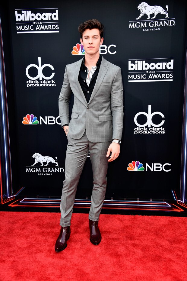 Shawn Mendes attends the 2018 Billboard Music Awards