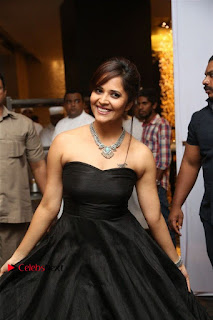 Telugu Anchor Actress Anasuya Bharadwa Stills in Strap Less Black Long Dress at Winner Pre Release Function  0042.jpg