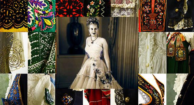 En Buenos Aires. Fantástica exposición. Evita y los 800 trajes del pueblo español. Una colección única en el mundo.