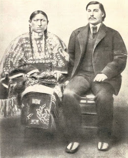 George Bent and his first wife Magpie, in 1867. (image)