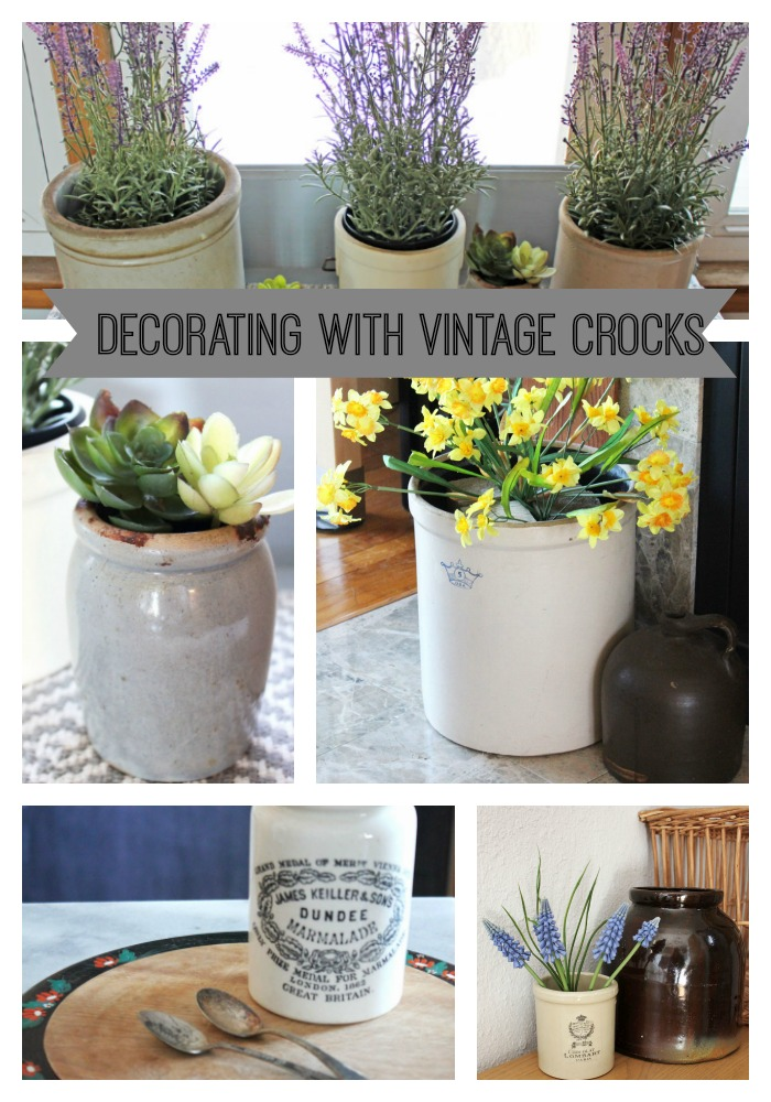 Decorating With Vintage Crocks From Itsy Bits And Pieces Blog