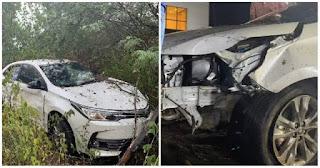 Batista Lima sofrem acidente