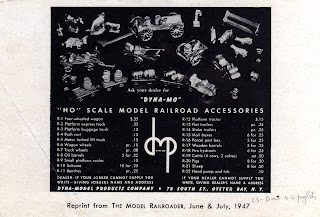 """Dyna-Mo""; 75 South Street; Advertisement; Advertising Flyer; Advertisement; Catalogue Image; DMP; Dyna Models; Dyna-Mo; Dyna-Model Products Company; HO Scale Model Railroad Accessories; Model Railway Accessories; New Jersey; Oyster Bay; Railroad Accessories; Railroad Stuff; Railway Models; Railway Scenics; Small Scale World; smallscaleworld.blogspot.com;"