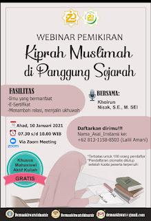 "Webinar Pemikiran ""Kiprah Muslimah di Panggung Sejarah"""