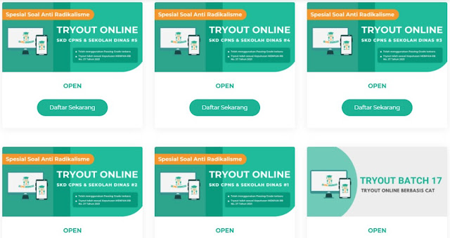 Tryout Online Gratis di IDCPNS Indonesia