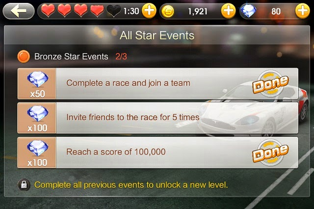 Various all star events for us to earn diamonds