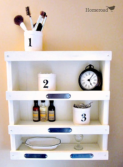 How to make DIY bathroom shelves. Homeroad.net