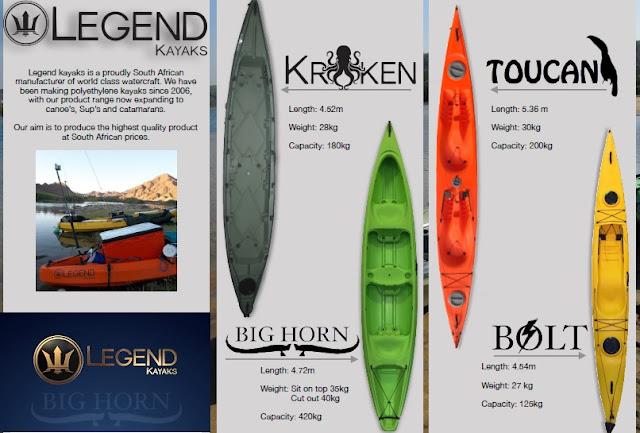 Legend Kayaks Range